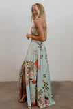 Riley Mint Floral Tank Maxi Dress