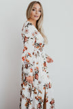 Jenna Winter Floral Satin Maxi Dress