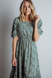 Berkley Midi Dress in Sage Floral