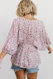 Erica Dusty Purple Floral Boho Top