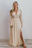 Lola Nude Shimmer Maxi Dress - Baltic Born