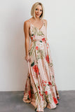 Riley Blush Floral Tank Maxi Dress
