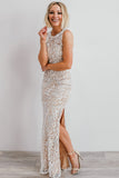 Taurus White Lace Column Dress - Baltic Born