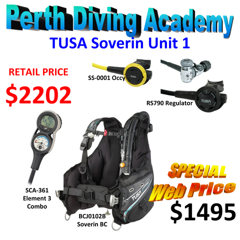 SCUBA Package - TUSA - BCJ-0102B Soverin BC with RS790 Regulator