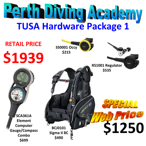 SCUBA Package - TUSA - Liberator Sigma II BC with RS1001 Regulator