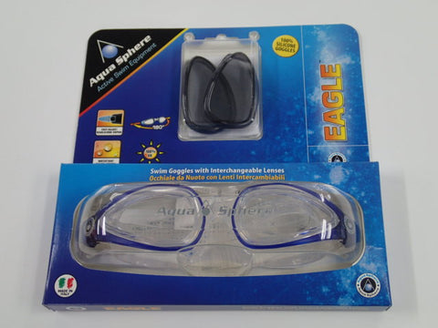 Aqua Sphere Eagle Swim Goggle Blue + Lenses