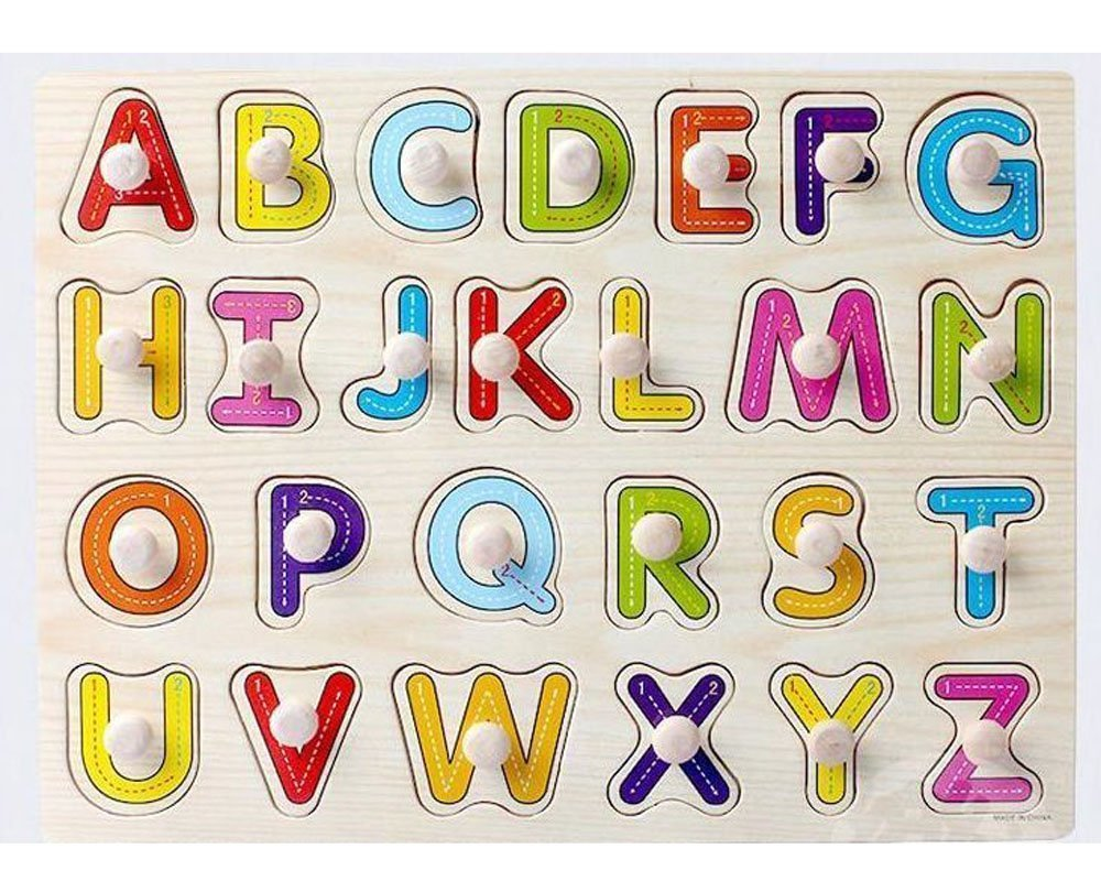 Wooden Capital Letters Puzzle