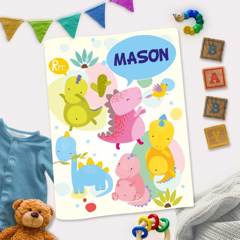 Dinosaur Themed Personalized Interactive Activity Book For Toddlers