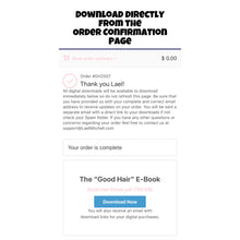 "Load image into Gallery viewer, ""Good Hair"" E-Book"
