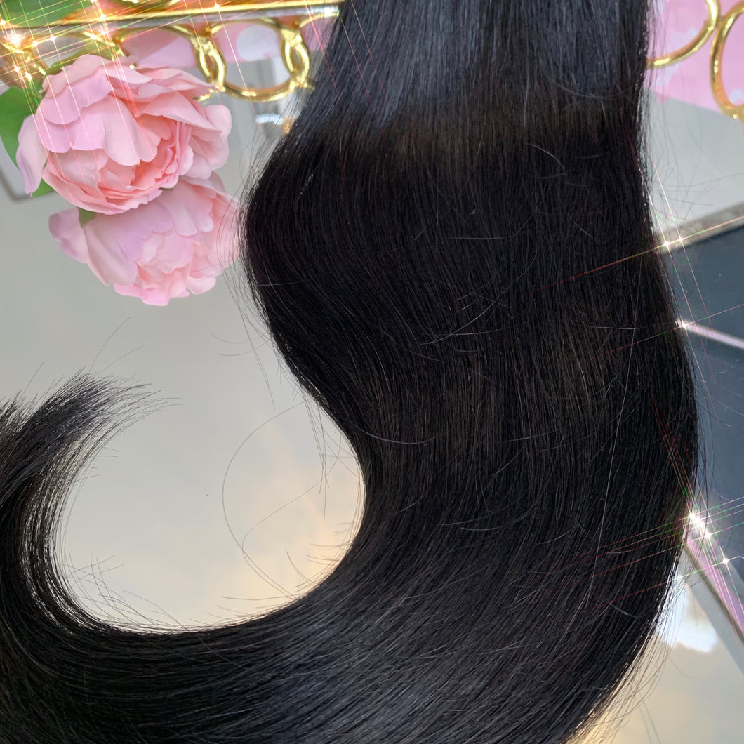 'Classic' 115g Human Clip In Human Hair Extensions - Ladylux
