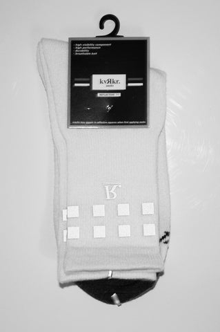 kvRkr White Reflective Socks