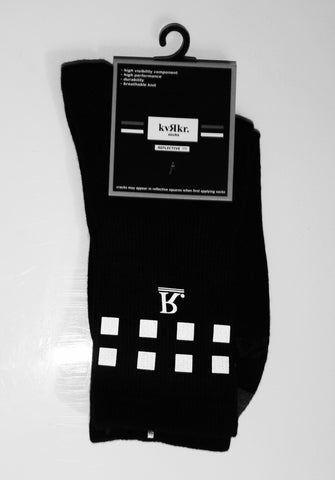 kvRkr Black Reflective Socks