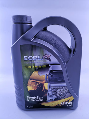 ECOLAX 15W40 Diesel Engine Oil SEMI-SYN ADVANCEDX4L