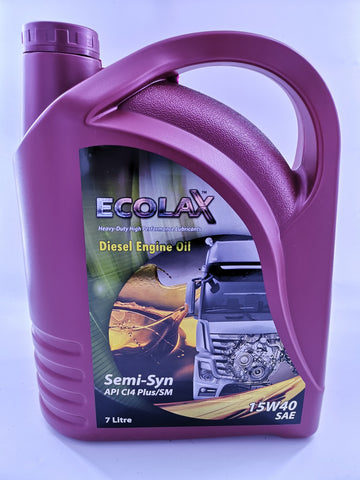 ECOLAX 15W40 Diesel Engine Oil SEMI-SYNX7L