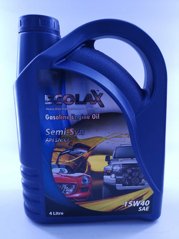 ECOLAX 15W40 Gasoline Engine Oil SEMI-SYNX4L