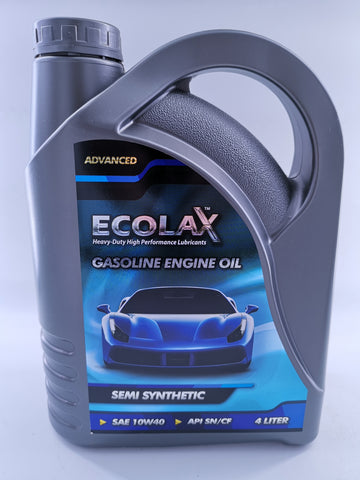 ECOLAX 10W40 SEMI-SYN OIL ADVANCEDX4L