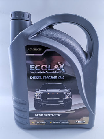 ECOLAX 15W40 Diesel Engine Oil SEMI-SYN ADVANCED X 7L
