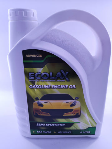 ECOLAX 5W30 SEMI-SYN OIL ADVANCEDX4L