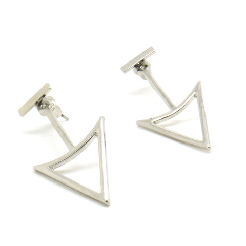 Which Way Double Sided Earrings - Silver
