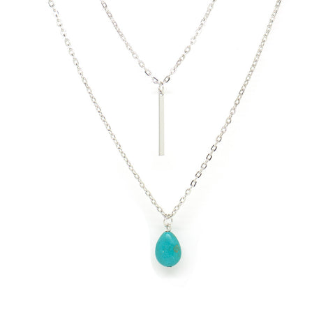 Water Drop Double Layered Necklace