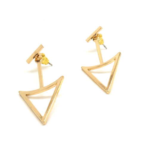 Which Way Double Sided Earrings - Gold