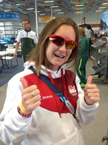 Alyson Dixon sporting Nakedrunner running sunglasses