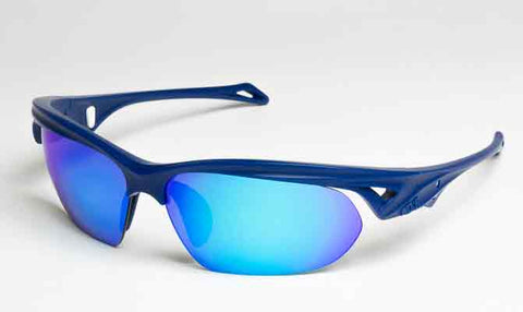 Navy Blue with mirror blue sol invictus golfing specific sunglasses