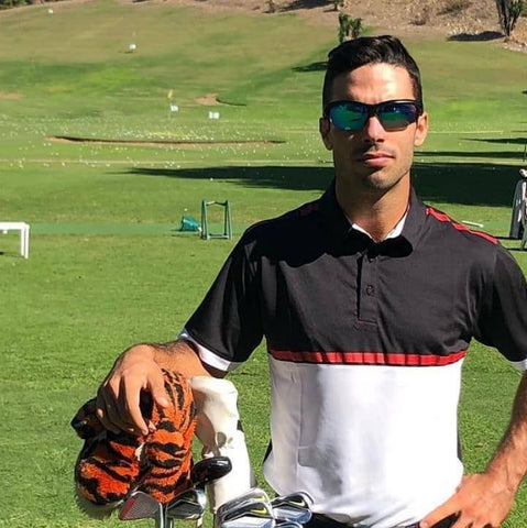 Ricky Cabello golf ambassador wearing our golfing sunglasses