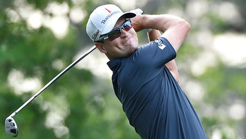 Zach Johnson wearing golfing sunglasses