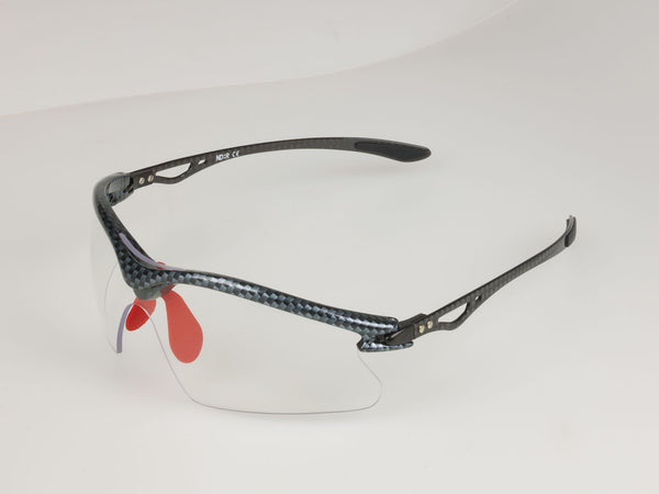 Carbon Fibre Cycling Sunglasses with clear lenses