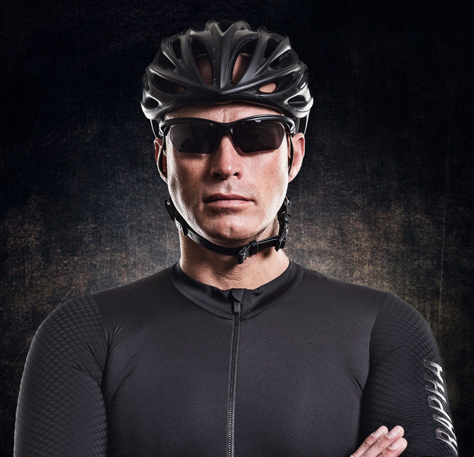 cycling sunglasses in black