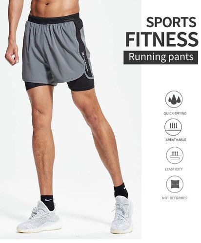 Running Shorts high elastic compression sportswear for men