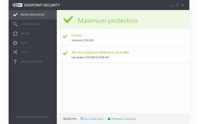 ESET Endpoint Protection Status