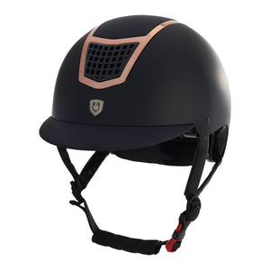 Navy rose gold helmet by Equestro