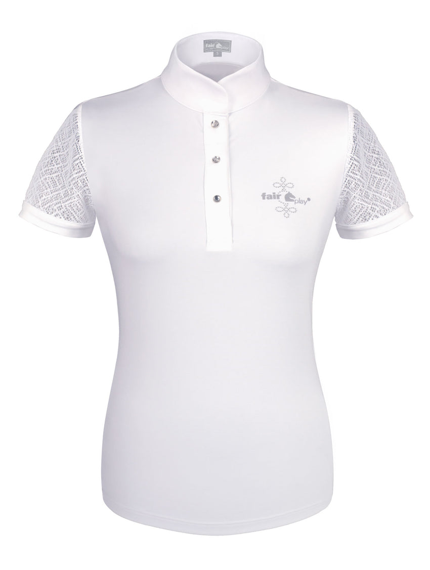 Competition Show Shirt for lady riders by Fair Play in white