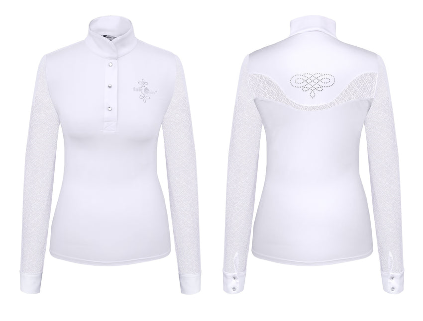 Show shirt for ladies in white
