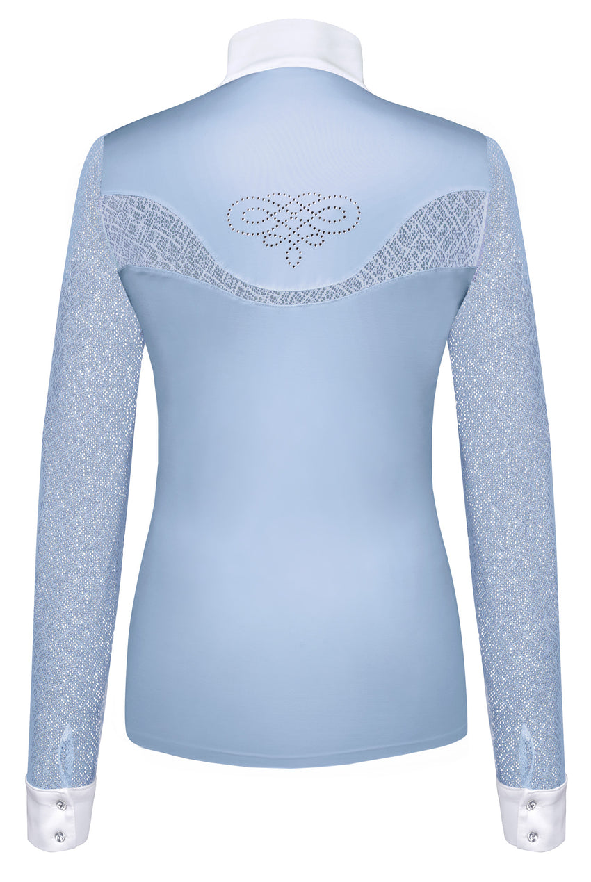 Light Blue women's competition shirt with lace sleeves