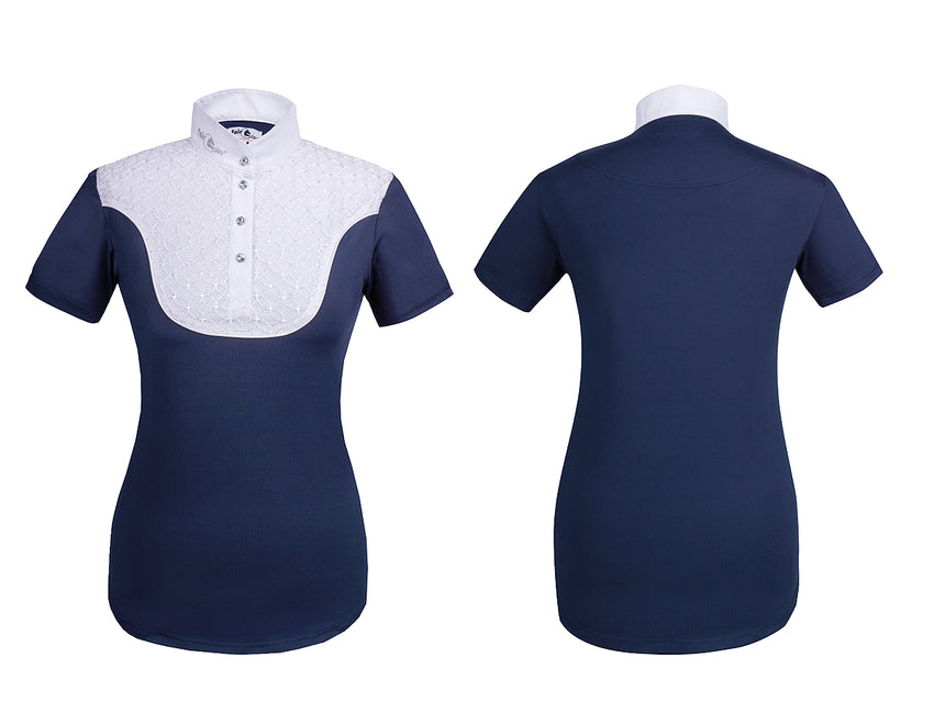 Navy and white show shirt