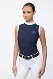 Navy Sleeveless Show Shirt