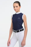 Navy Girls Sleeveless Show Shirt