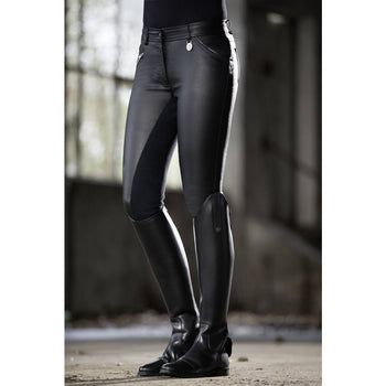 Leather look breeches