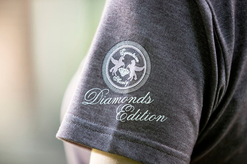 Polo Shirt Diamonds Milky