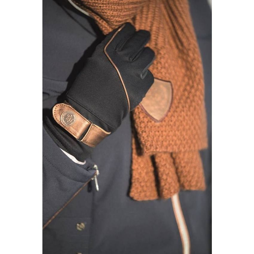 Riding Gloves with Gold