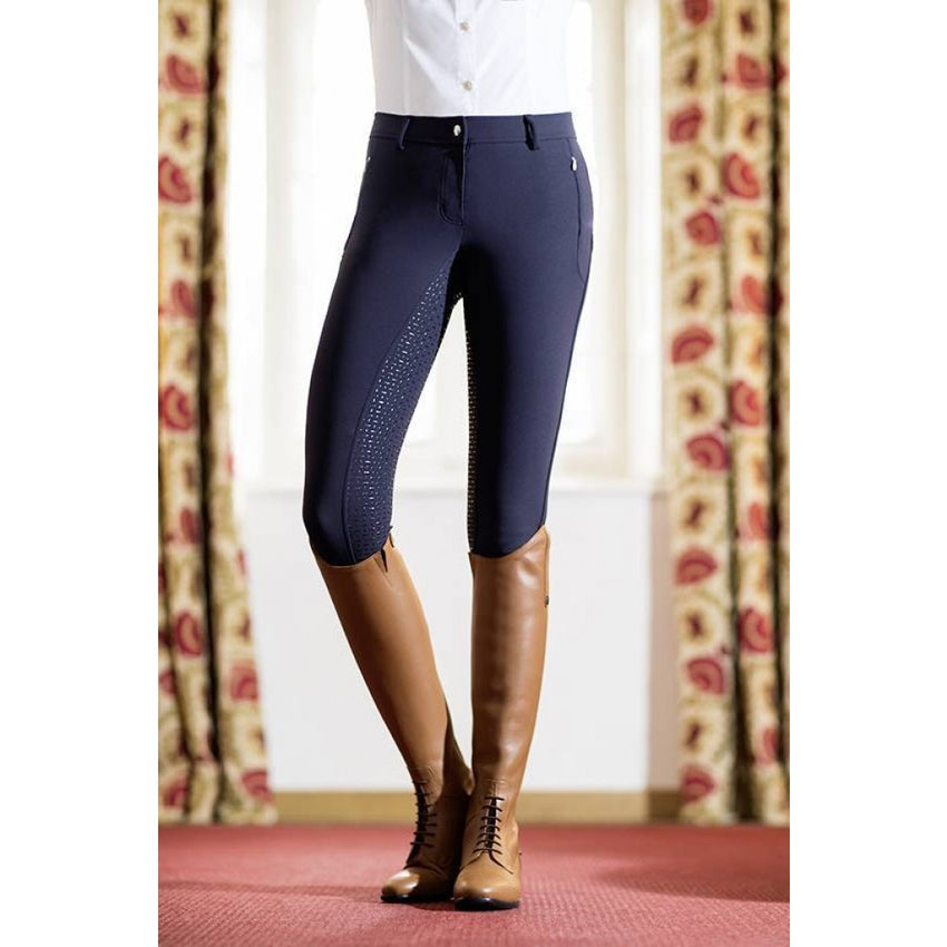 Silicone Seat Ladies Breeches in Navy