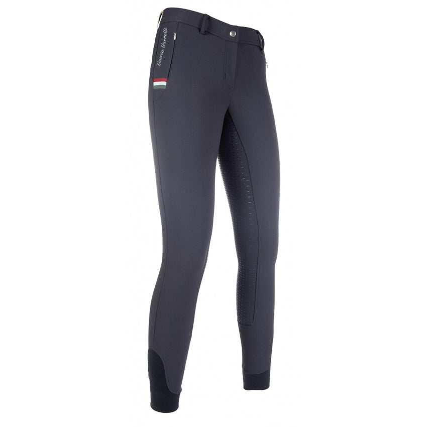 Navy Silicone Seat Ladies Breeches