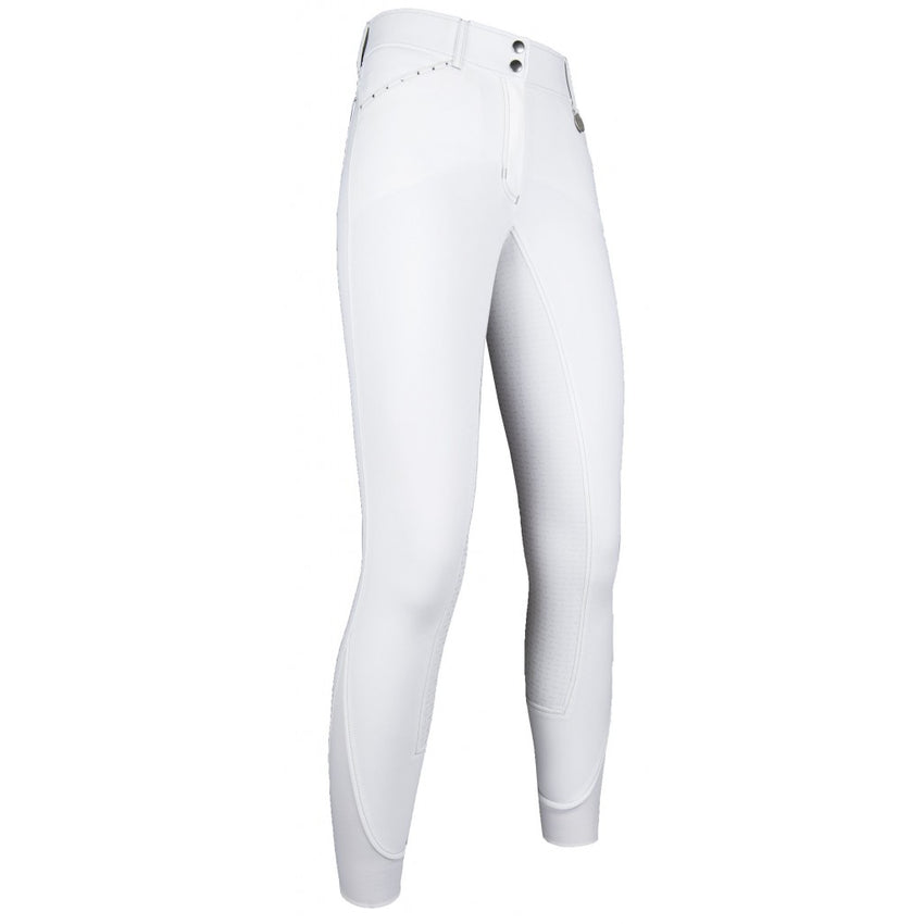 White Full Silicone Seat Breeches