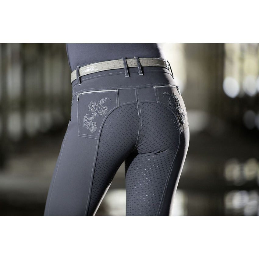 Ladies Breeches Piemont Eva Floral with Full Silicone Seat