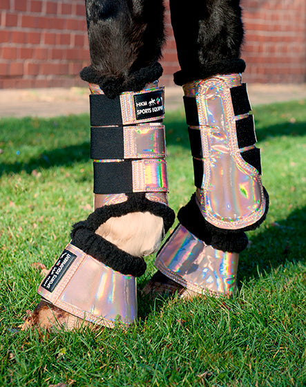 Brushing Boots HKM Neoprene Protection Wraps Bright Colours