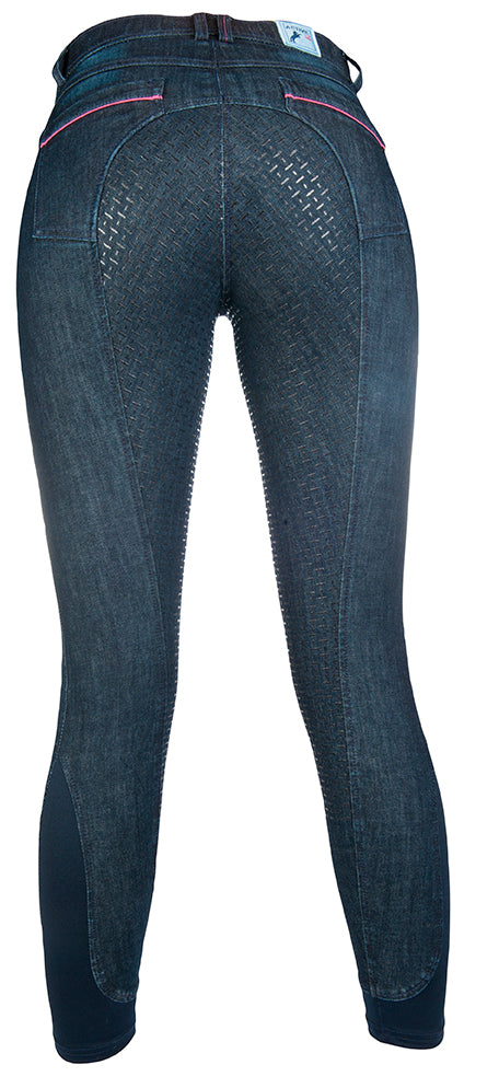 ladies denim riding breeches