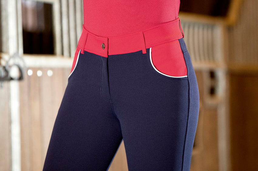 Navy and red breeches